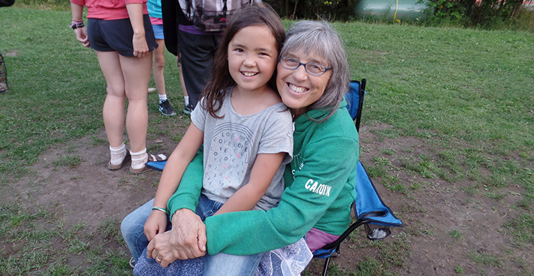 Sister Carolyn Heil at Camp Winston