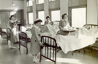 St. Francis School of Nursing students 1940s