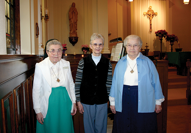 Villa organists-Srs. Rita Marie, Louise Marie and Blanche Marie