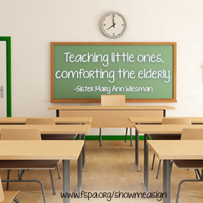 teaching-little-ones-comforting-elderly-Sister-Mary-Ann-Wiesman