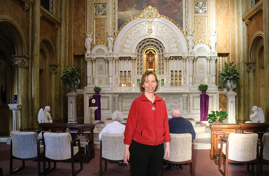 Sister Sarah Hennessey in Adoration Chapel