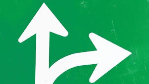 Arrows indicating seeing direction