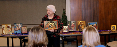 Sister Joan Weisenbeck presented Icon Writing: a Path to Beauty and Holiness session