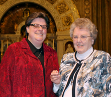 Sister Laura Nettles and Sister Celesta Day with FSPA ring