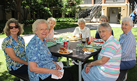 Affiliates and sisters enjoy picnic lunch