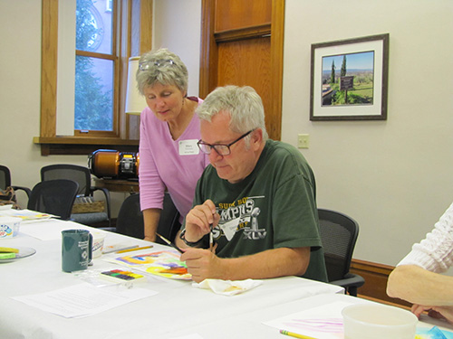 Mary Louise guides Art as Prayer