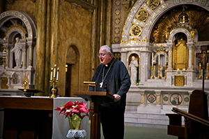 Bishop William Callahan in Mary of the Angels chapel