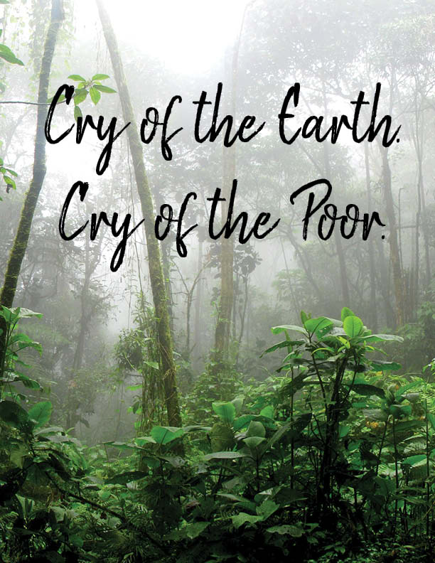 cry of the earth. cry of the poor.