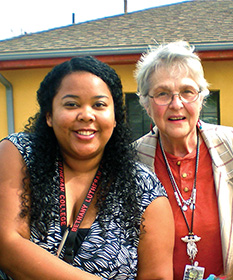 Sister Donna and colleague - Courtesy of Butterfly Drop-In Center