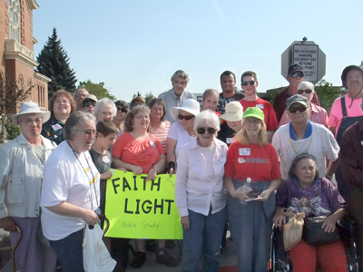 Faith and Light group pilgrimage