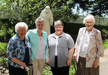 Sisters Mary Bates, Laurie Sullivan, Dawn Kutt, Clarone Brill