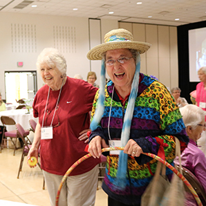 Sisters Maria Friedman and Joyce Blum share a laugh of goodness