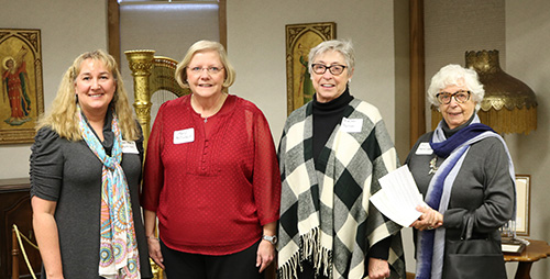 Prayer partners Jane Marie Mathison, Mary McClintock, Kathleen Trussoni and Aly Martin-Lopez