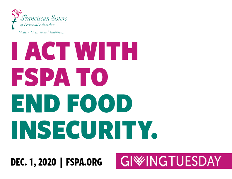 I act with FSPA to end food insecurity.