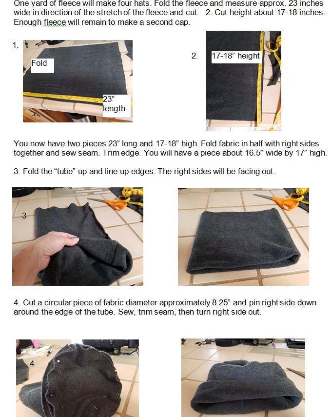 sewing instructions for warm fuzzy hats