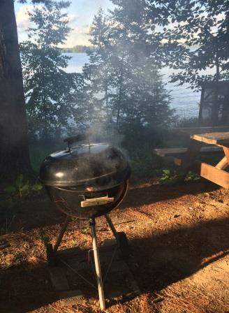 smoking-grill-trees-lake