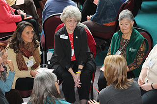 Discussion group at conference