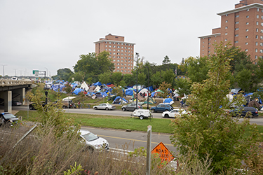 Tent city for homeless