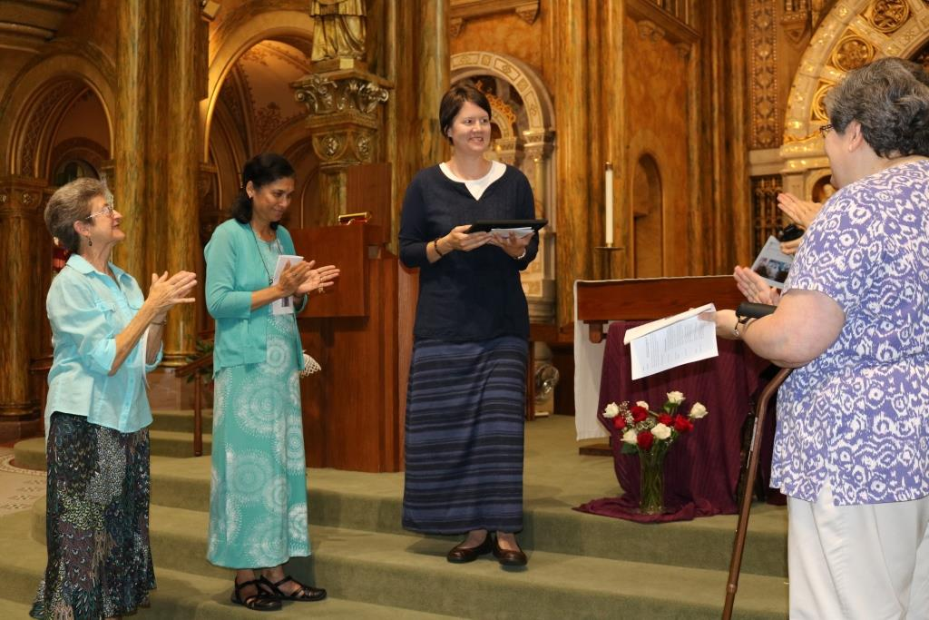 Sister Michele is welcomed into the FSPA novitiate
