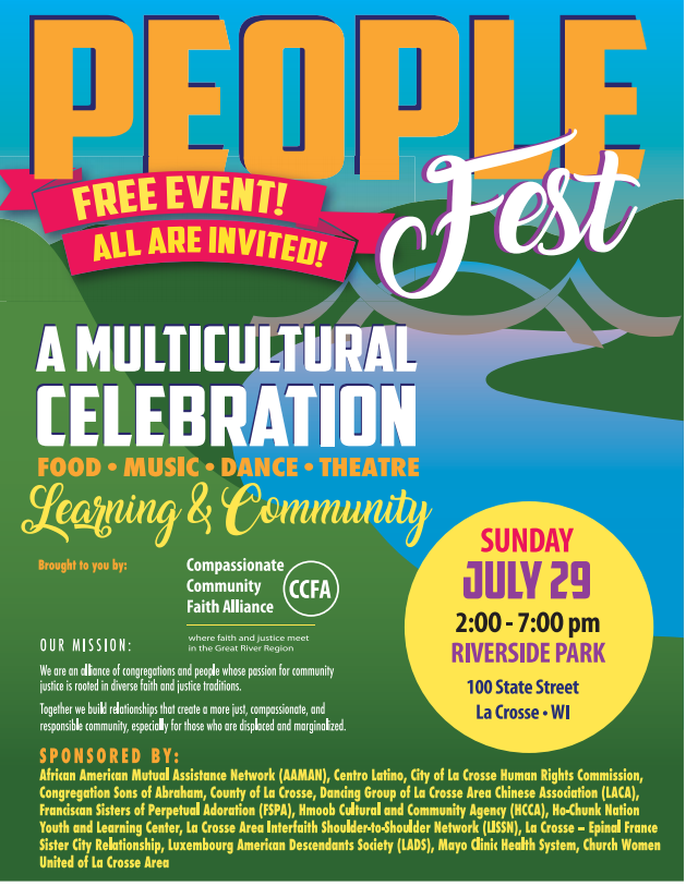 People Fest flyer with event details
