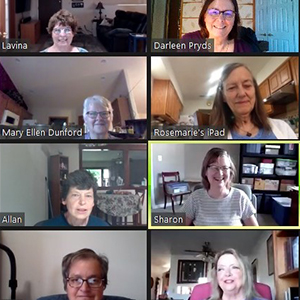 affiliates meet virtually via zoom