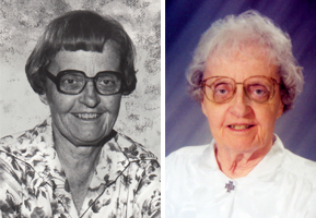Sister Riccarda Moseley in 1970s and 1990s