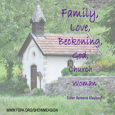 family-love-beckoning-God-church-woman