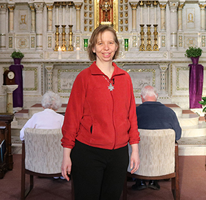 Sister Sarah Hennessey in the adoration chapel
