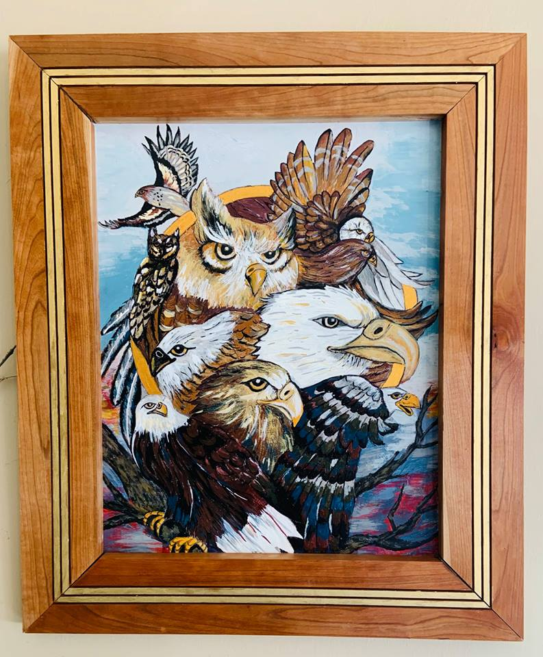 Sister Shirley's eagles painting