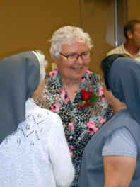 Sister Janet Fischer visits with Glenmary sisters-photo courtesy of Judy Bean