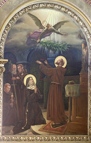 St. Clare and Second Order painting