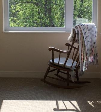 window and rocking chair