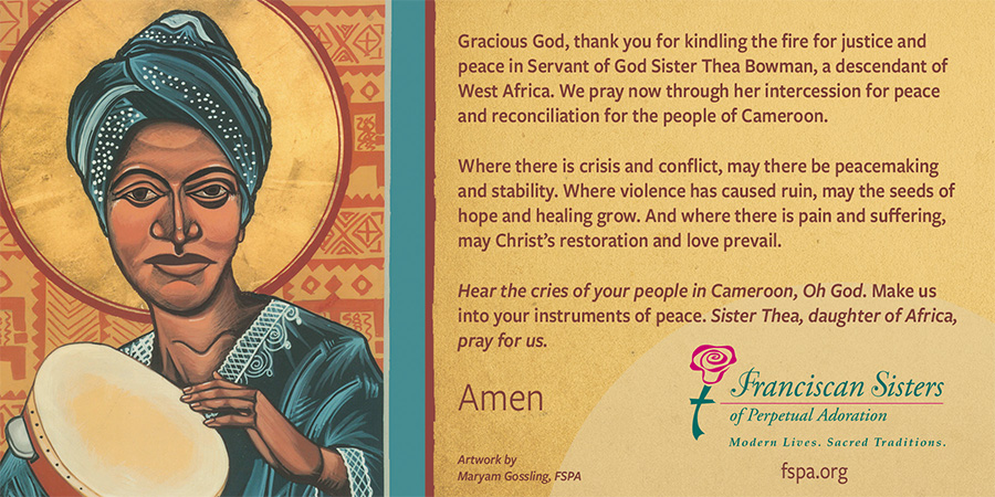 Thea Bowman prayer for Cameroon