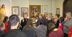 Sister Charlene with Viterbo class in Heritage Dept